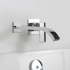 Cascade chrome wall-mount tub faucet OVE