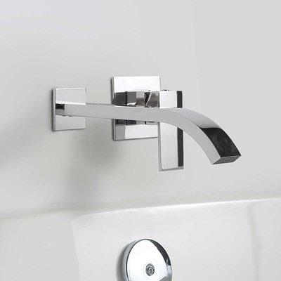 Cascade chrome wall-mount tub faucet OVE
