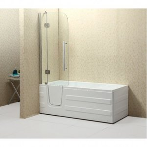 Freestanding bath with door