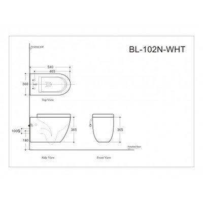 Wall-mounted toilet - box 1/2