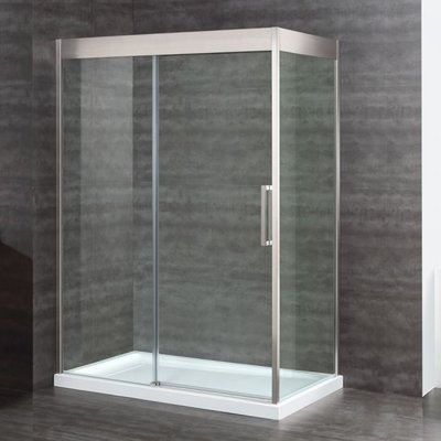 Arubove 60 '' shower door including base and panel