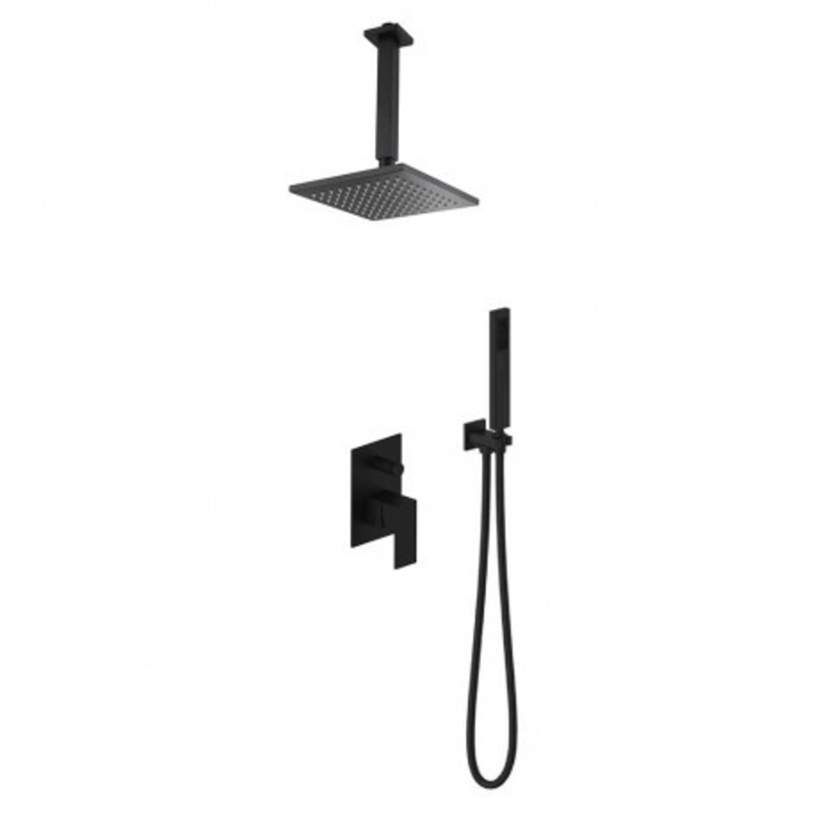 Matte black ceiling-mounted shower tap Kimmi collection 91028
