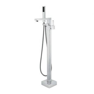 Ossom chrome freestanding bathtub faucet