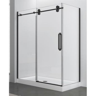 Apo shower 36x48 black 10mm (a) fixed panel
