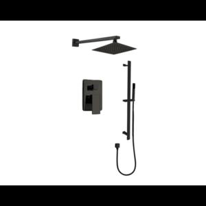 Ensemble de robinet de douche sur rail noir 680903