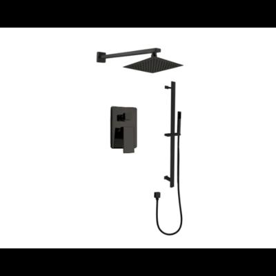 Black shower faucet set on rail kimmi collection 680903