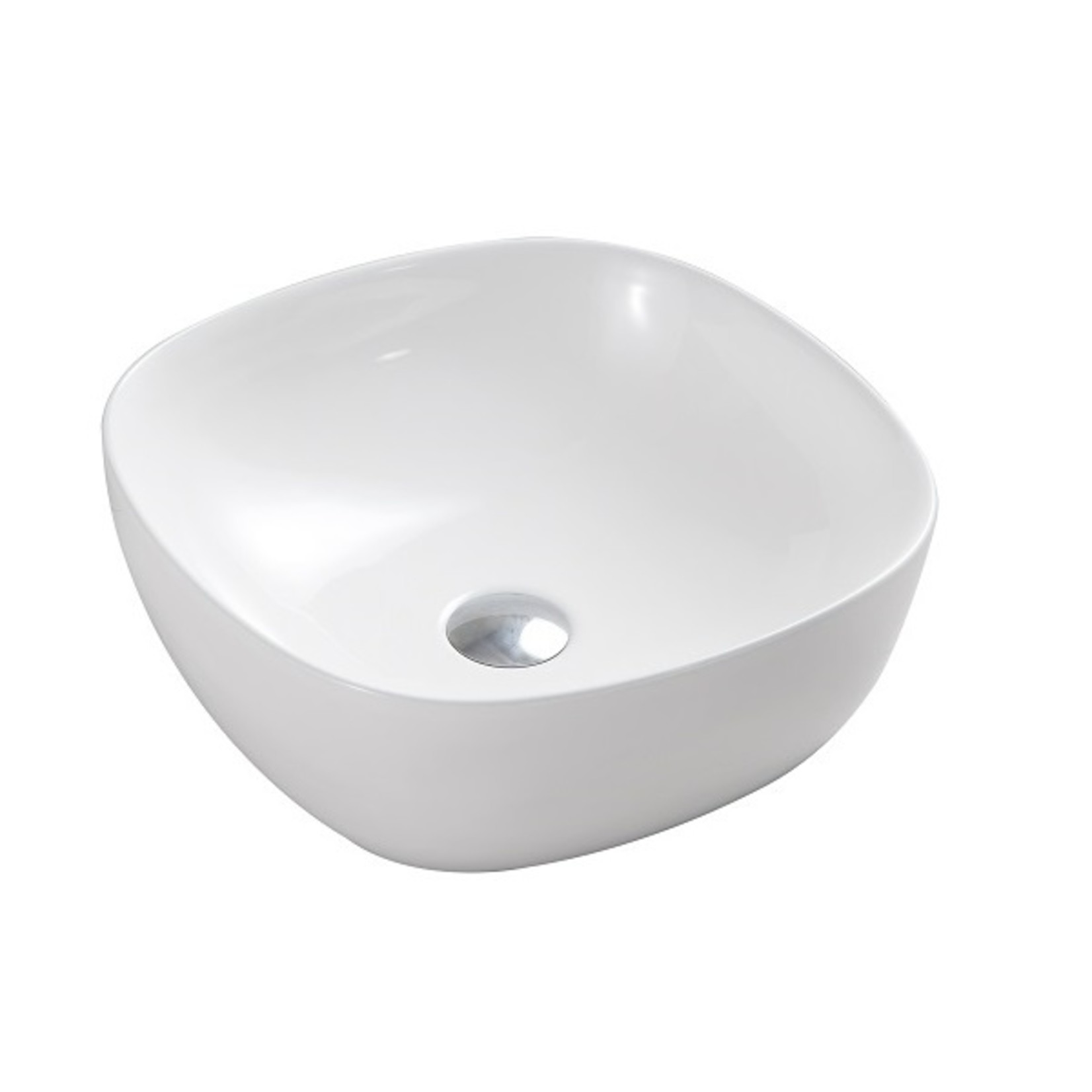 16 '' white porcelain sink MI-1268-1