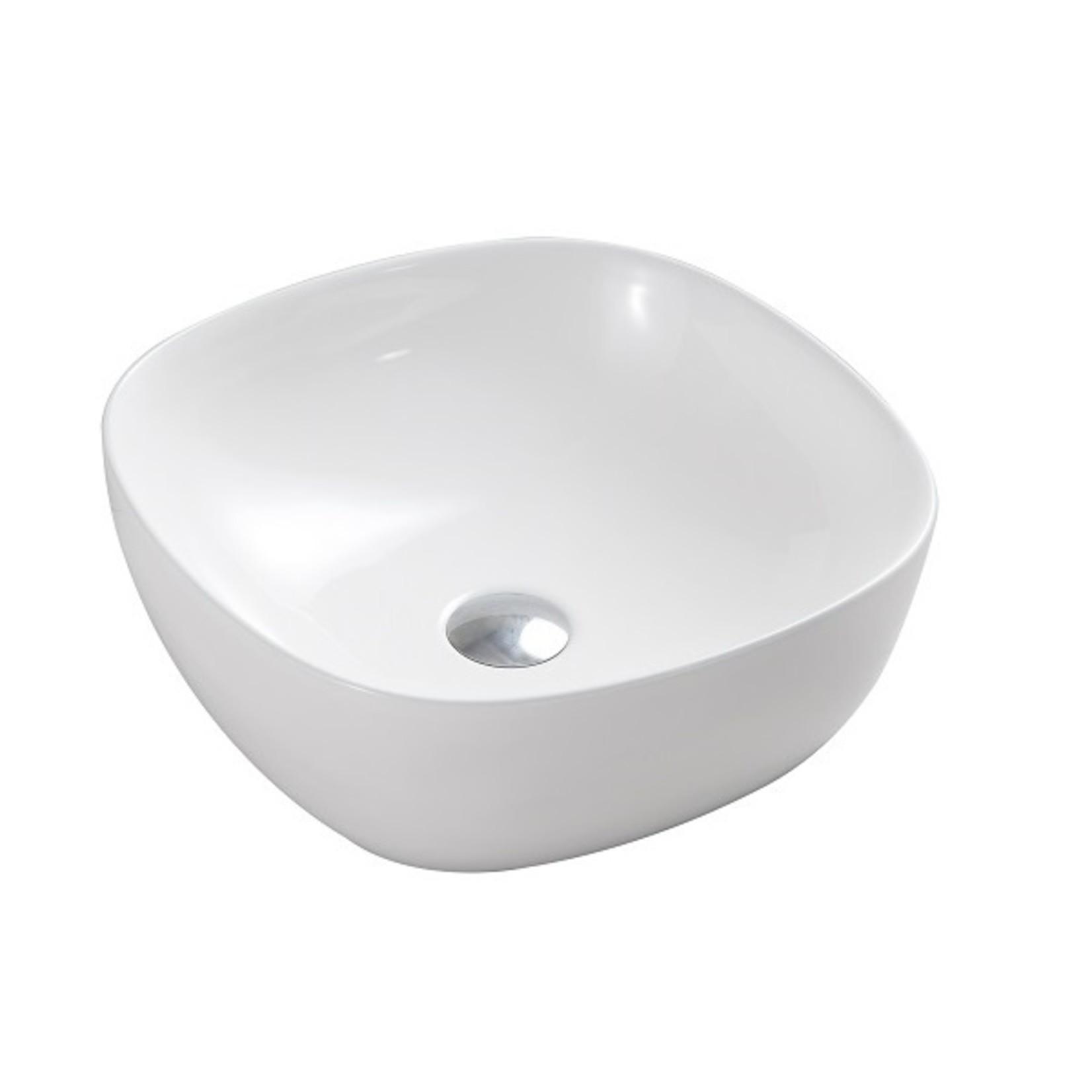 Vasque en porcelaine 16'' blanc MI-1268-1