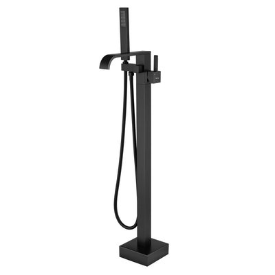 Polished black freestanding tub faucet 018