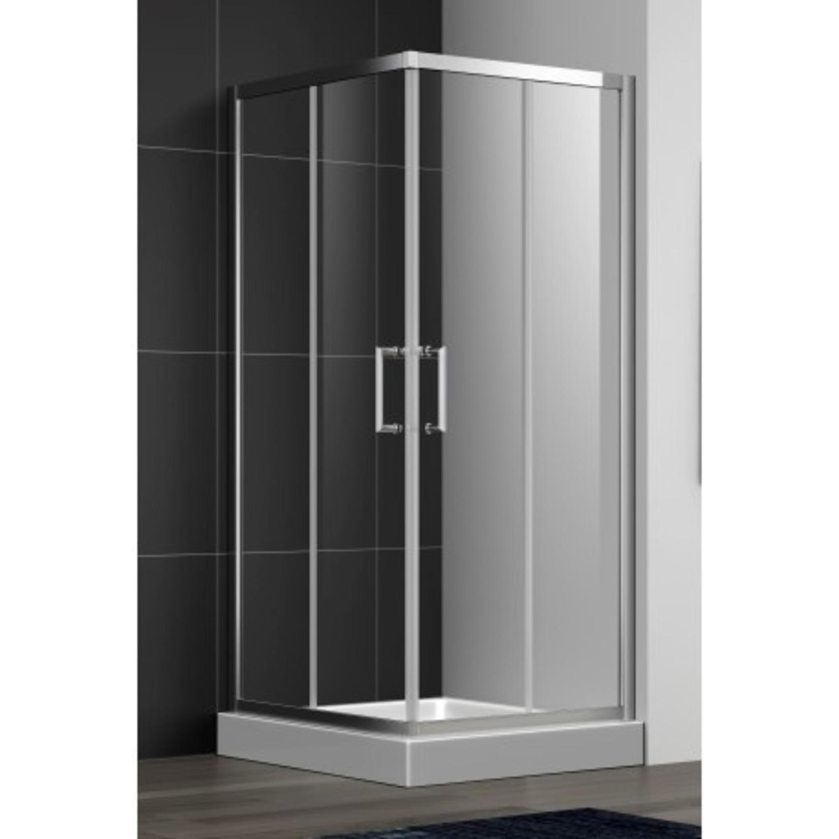 Shower set 36x36 chrome CDC