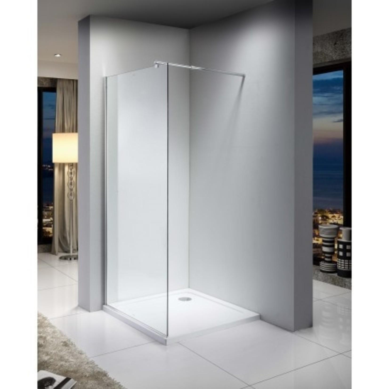 36 '' Italian style glass shower in chrome