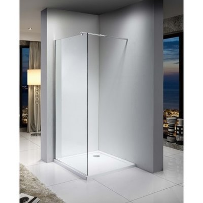 36 '' Italian style glass shower in chrome