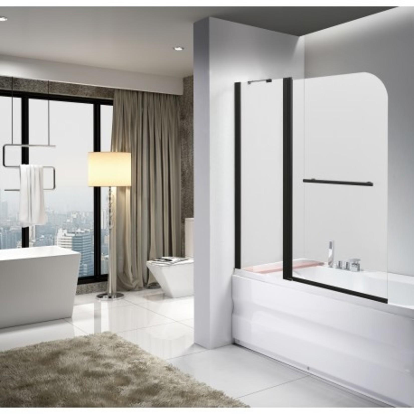 47.2 '' black bath screen