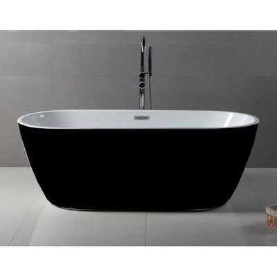 Emma Freestanding Bathtub Black
