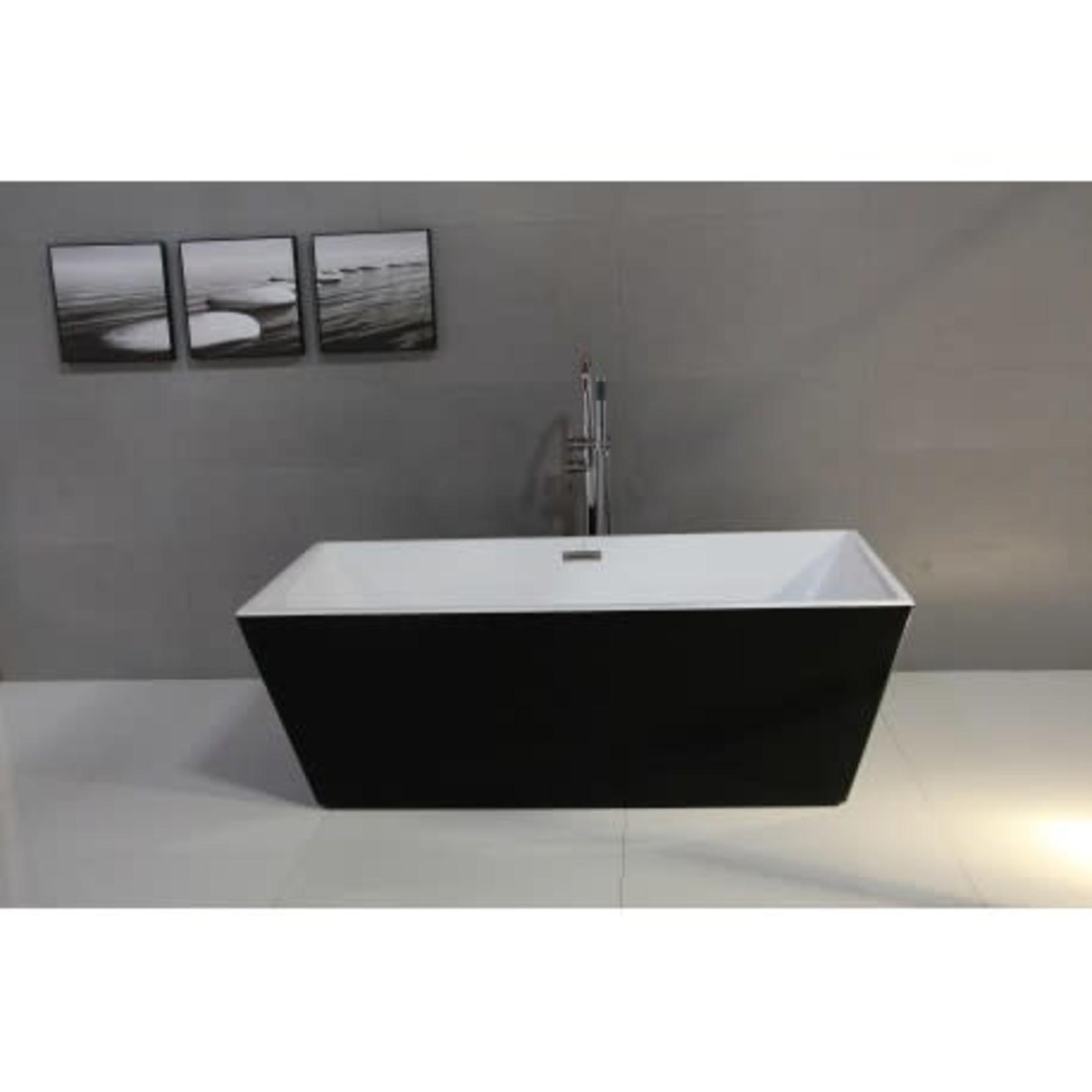 Roumana Freestanding Bath Black