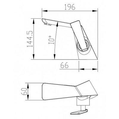 Luho Matte Black Finish Lavatory Faucet