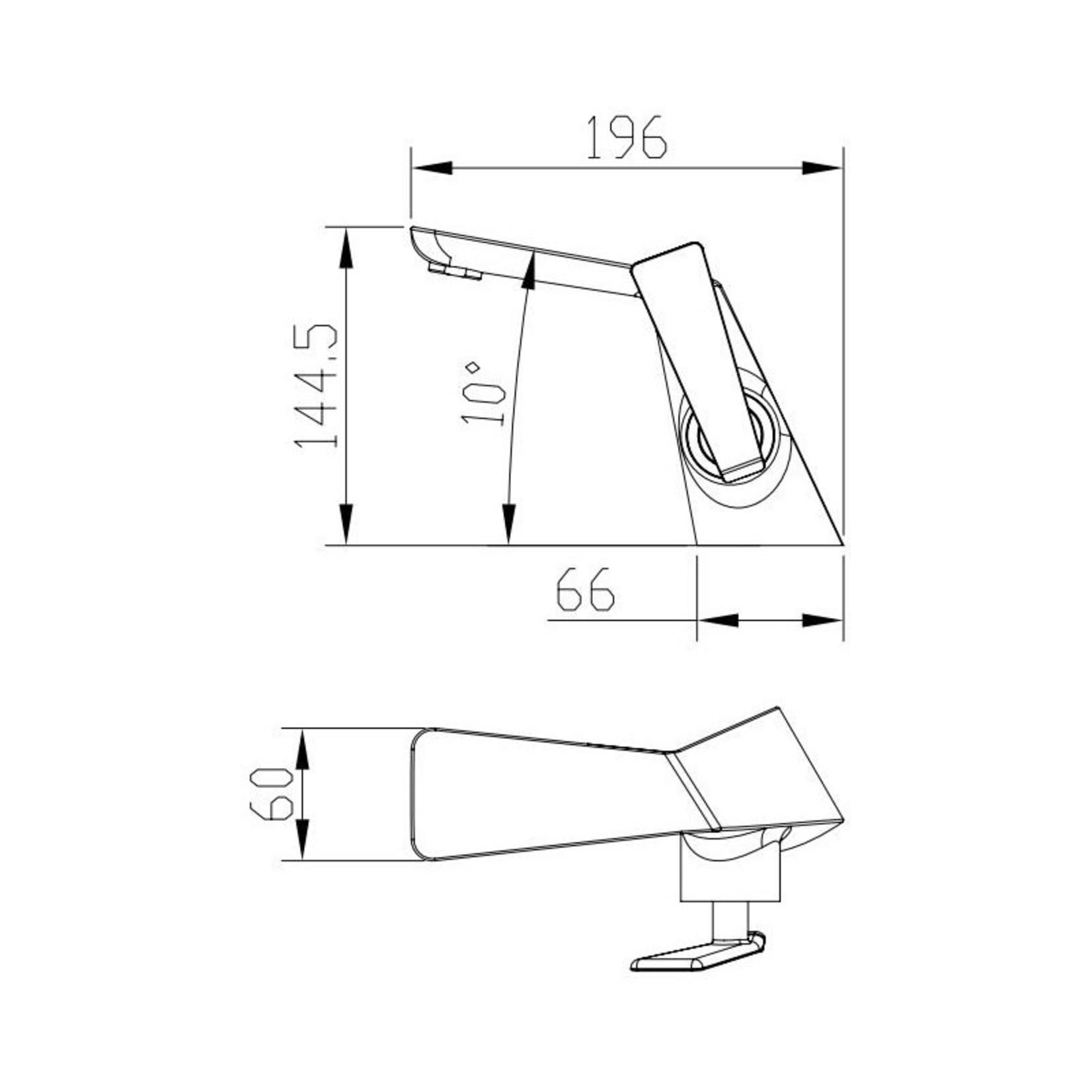 Robinet de lavabo  Noir Mat et Or 2811 BG