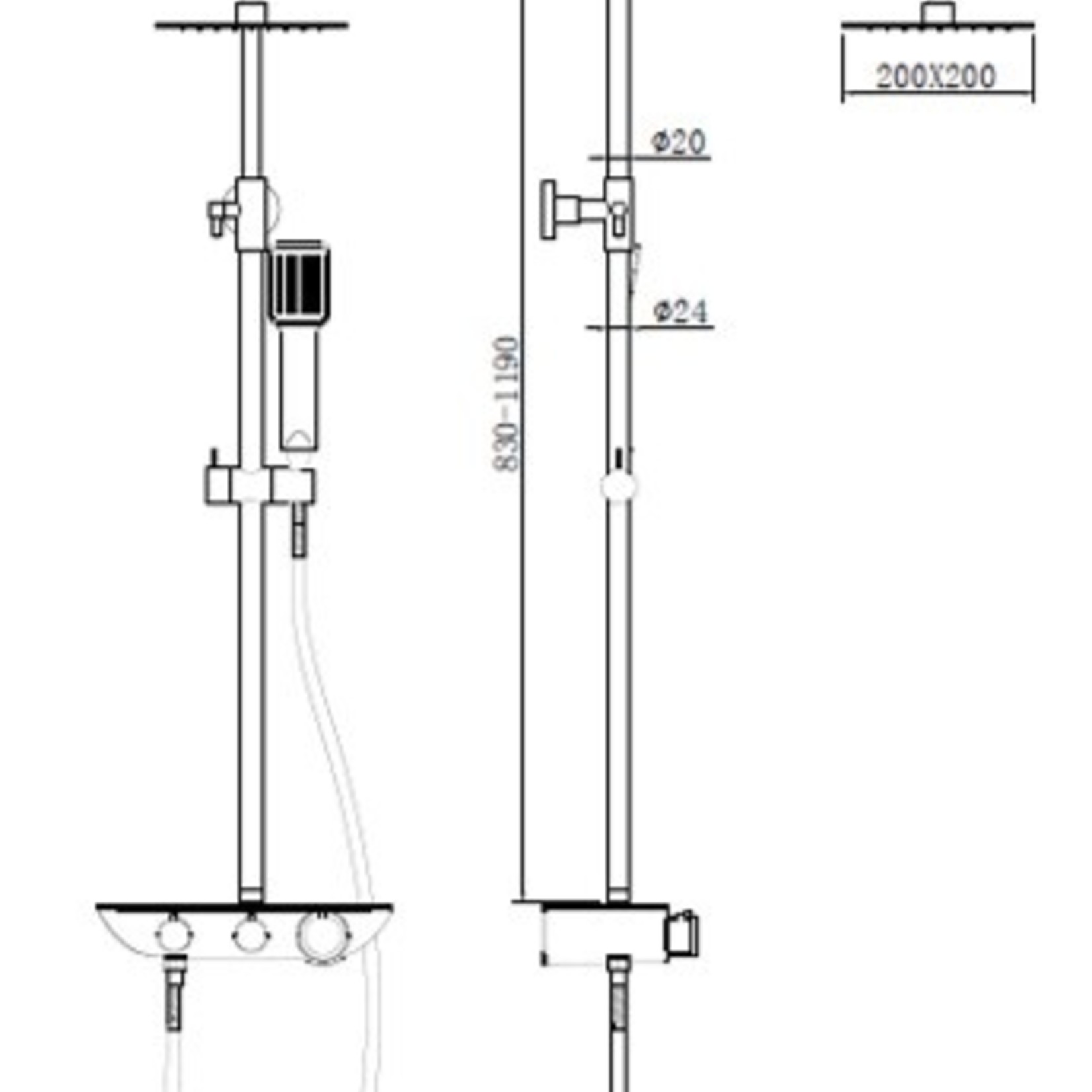 Luhö  Luho Matte Black Shower Faucet 6652 MB
