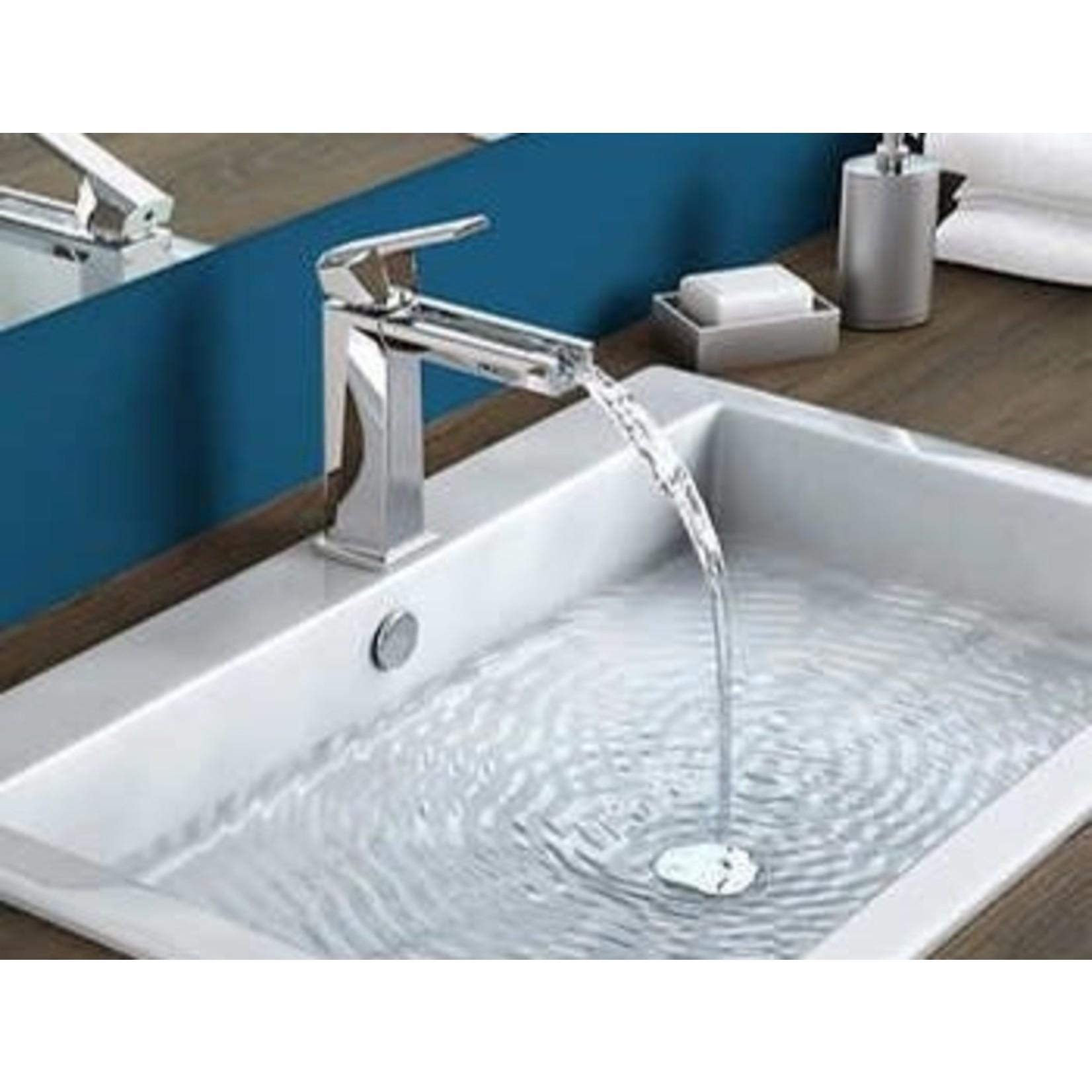 Robinet de lavabo Artika Aquaflow Chrome + Pop-up inclus