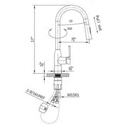 Jade Kitchen Faucet 8605-01-11 Jade