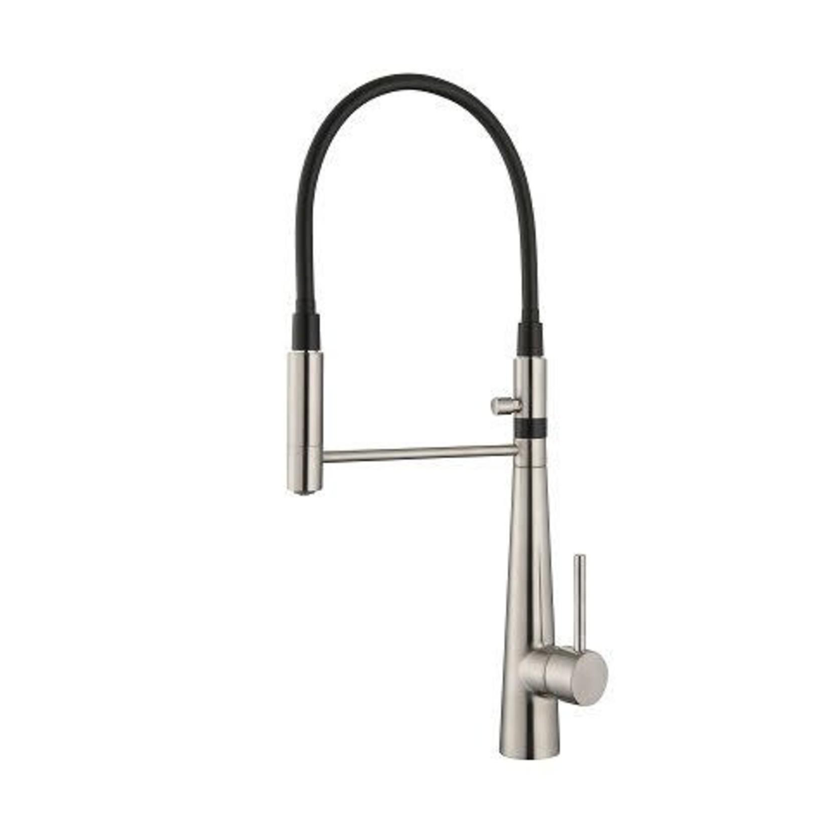 Kitchen faucet black / nickel 15598BQT-BN