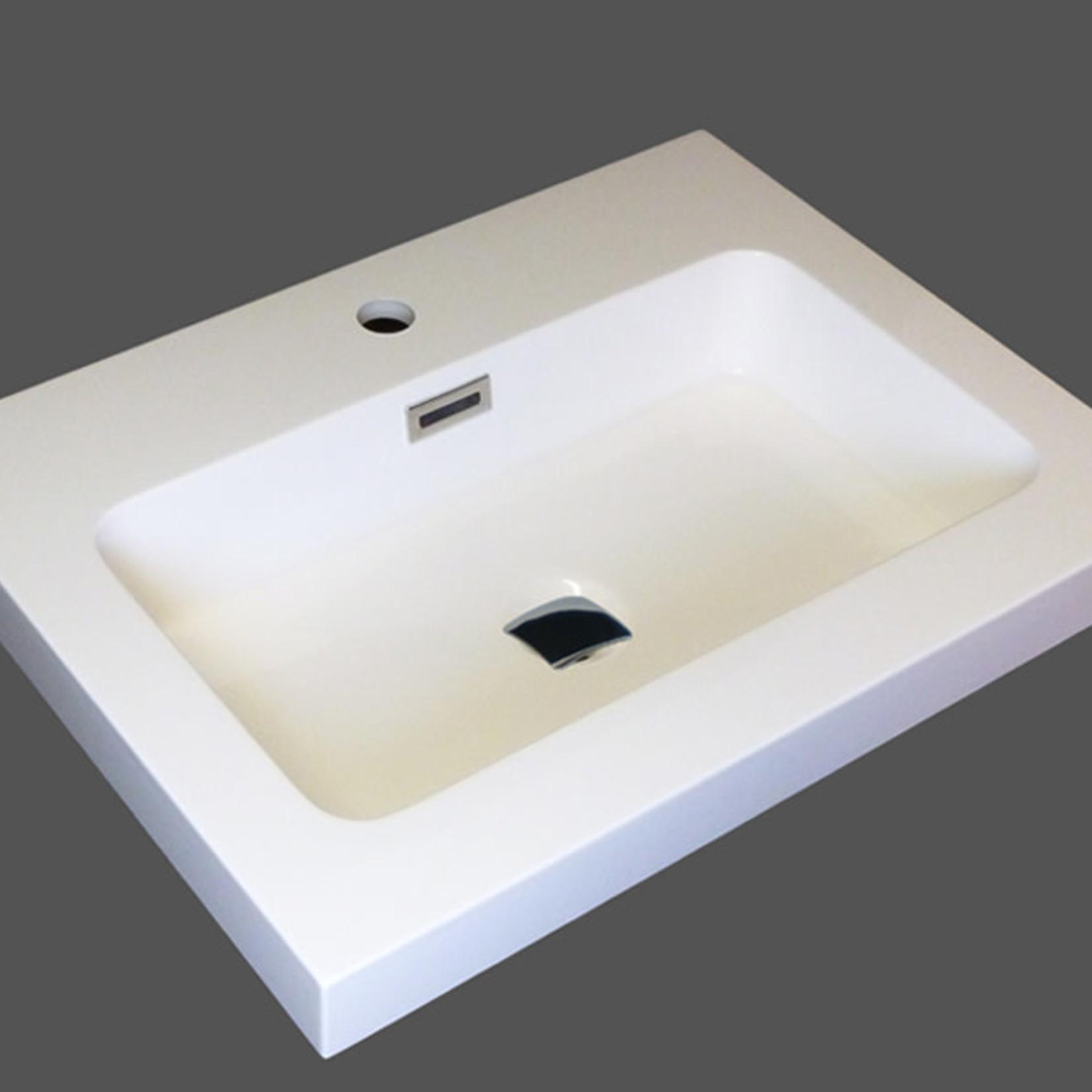 "Lavabo salle de bain composite 24""LR 605-Cotton Bellati"