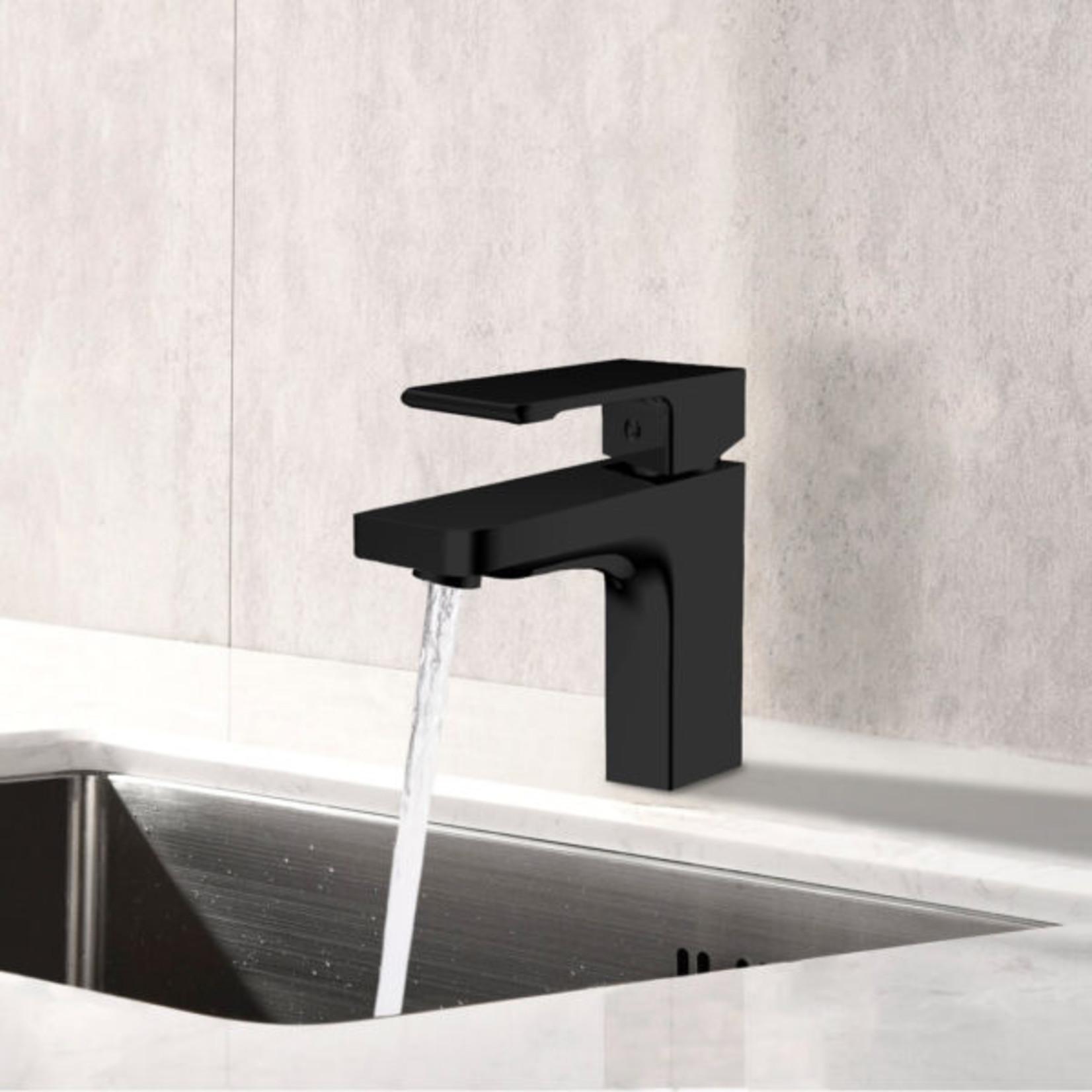 Hadley Matte Black Lavatory Faucet 8602
