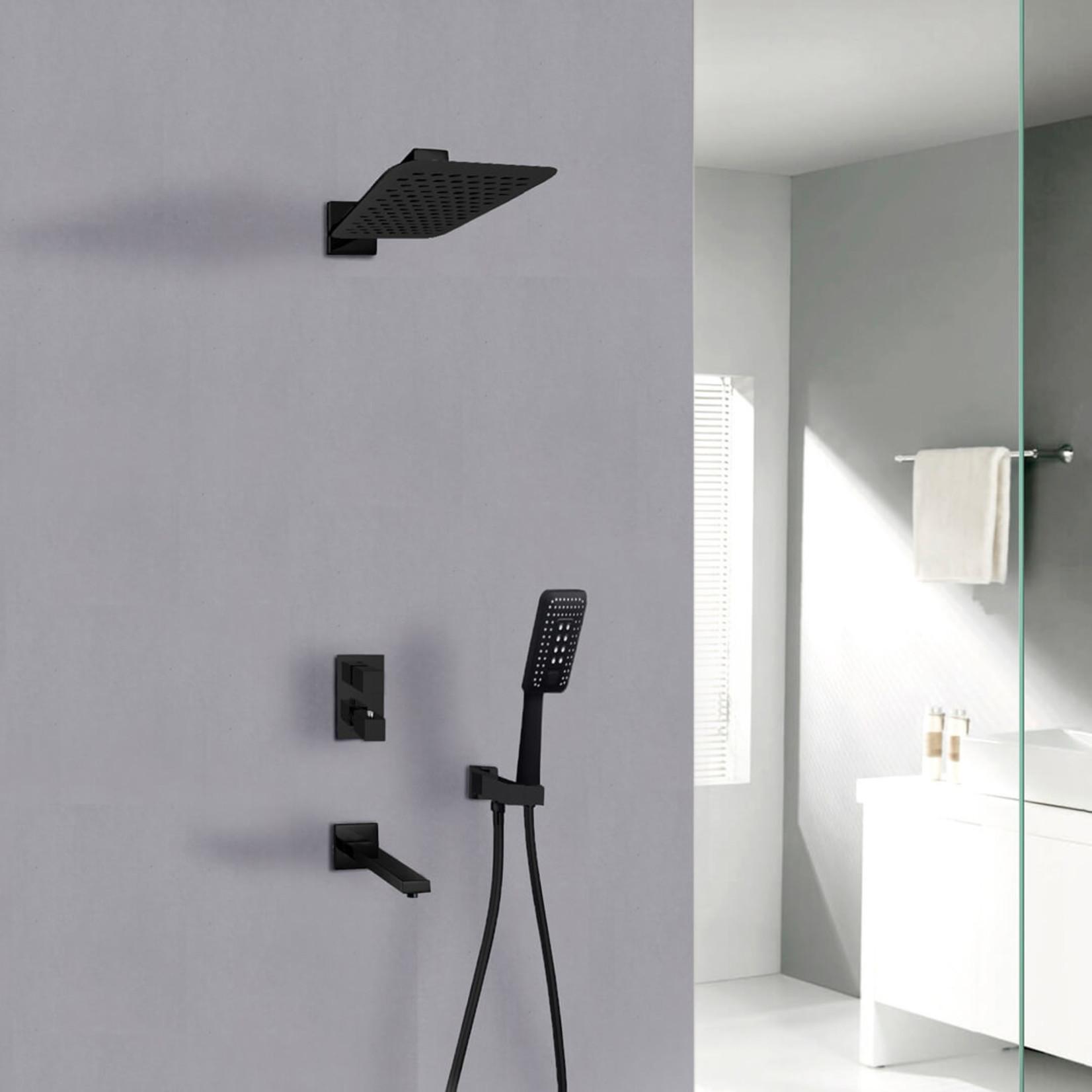 Jade  Hudson Jade Matte Black Shower Faucet