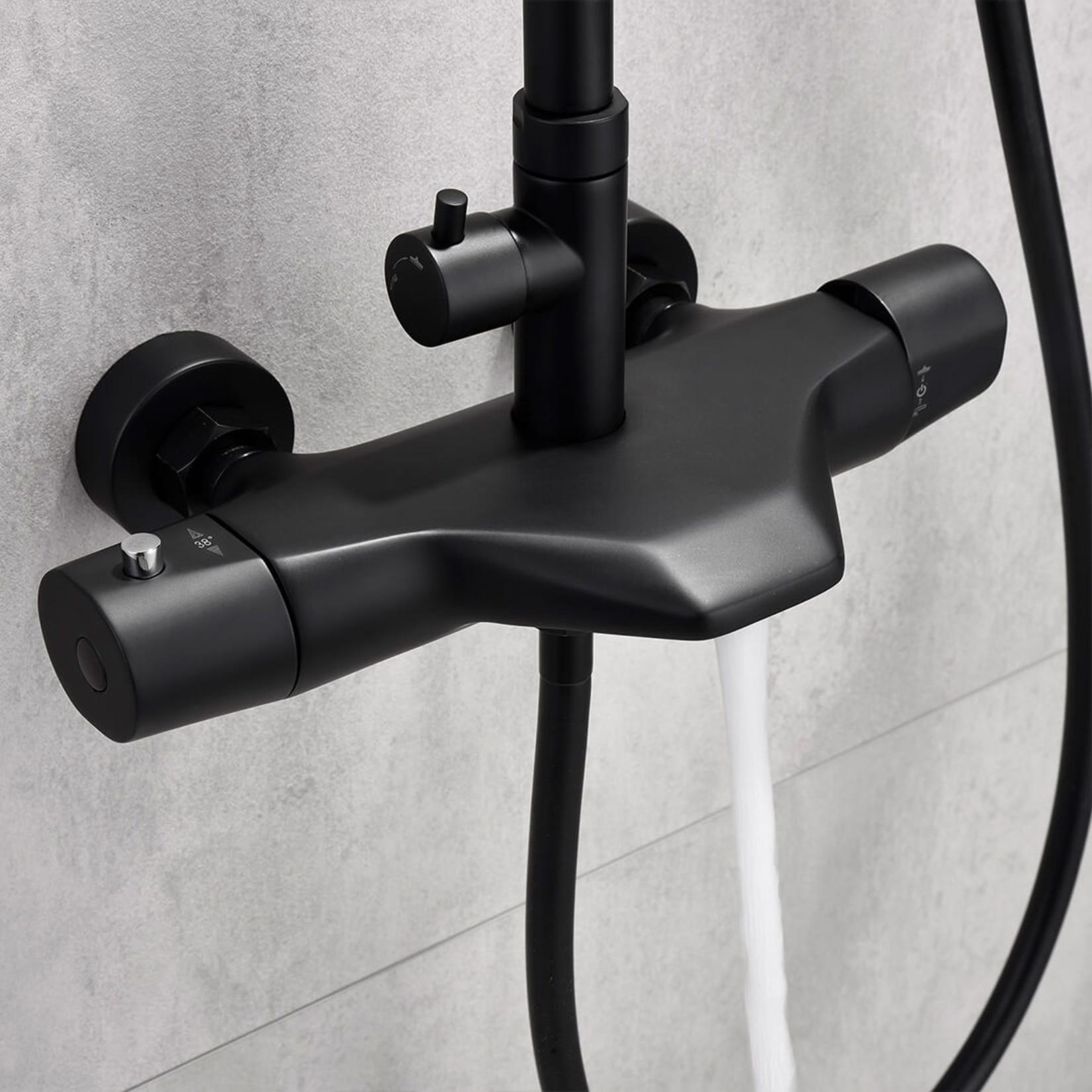 Jacki Jade Bath black thermostatic shower column