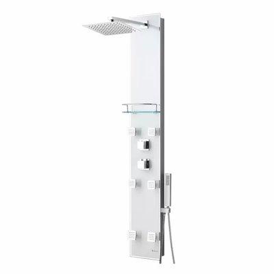 Zara Akuaplus Brushed Thermostatic Shower Column