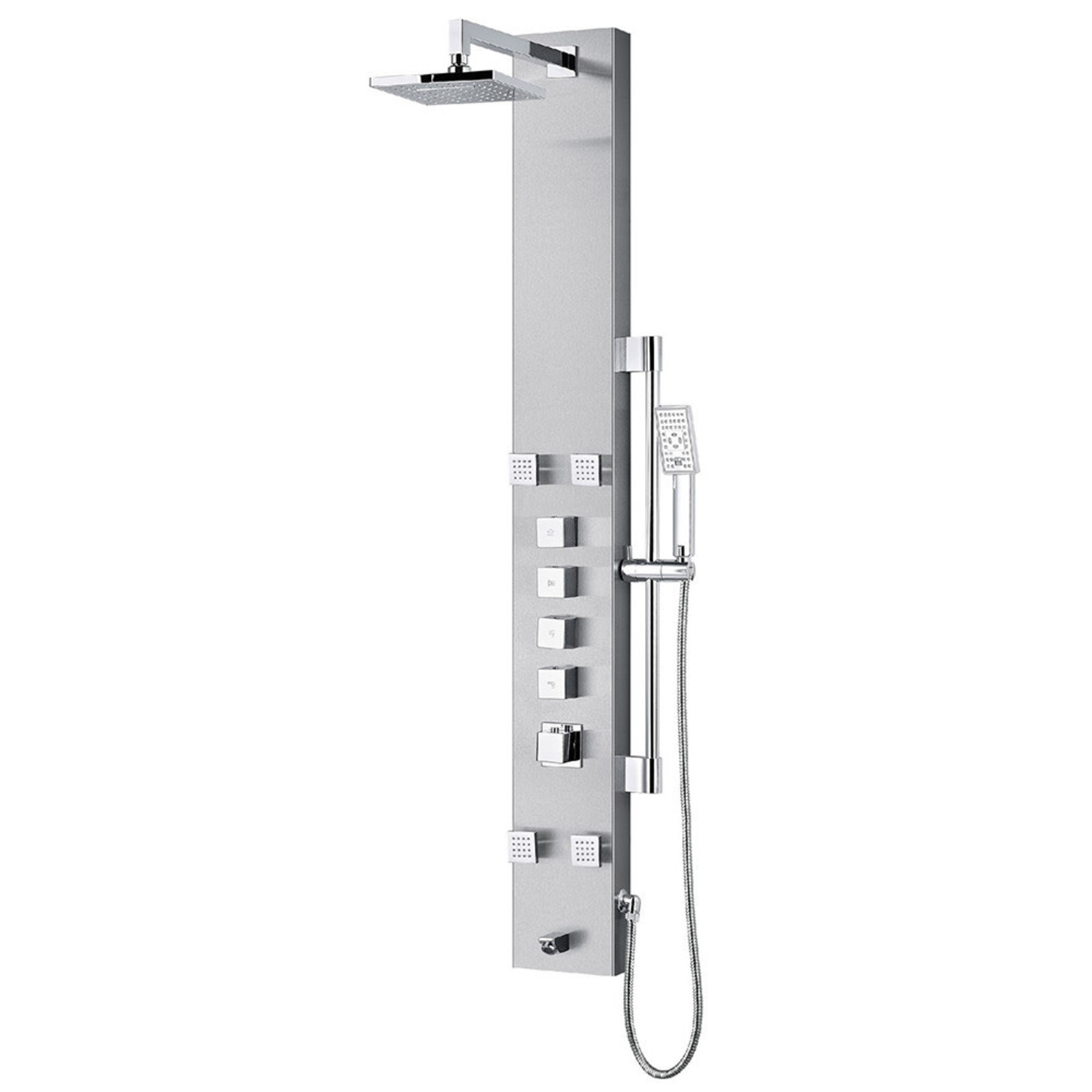 Colonne de douche thermostatique Nora Akuaplus Stainless Steel
