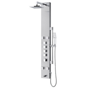 Nora Nora Akuaplus Stainless Steel Thermostatic Shower Column