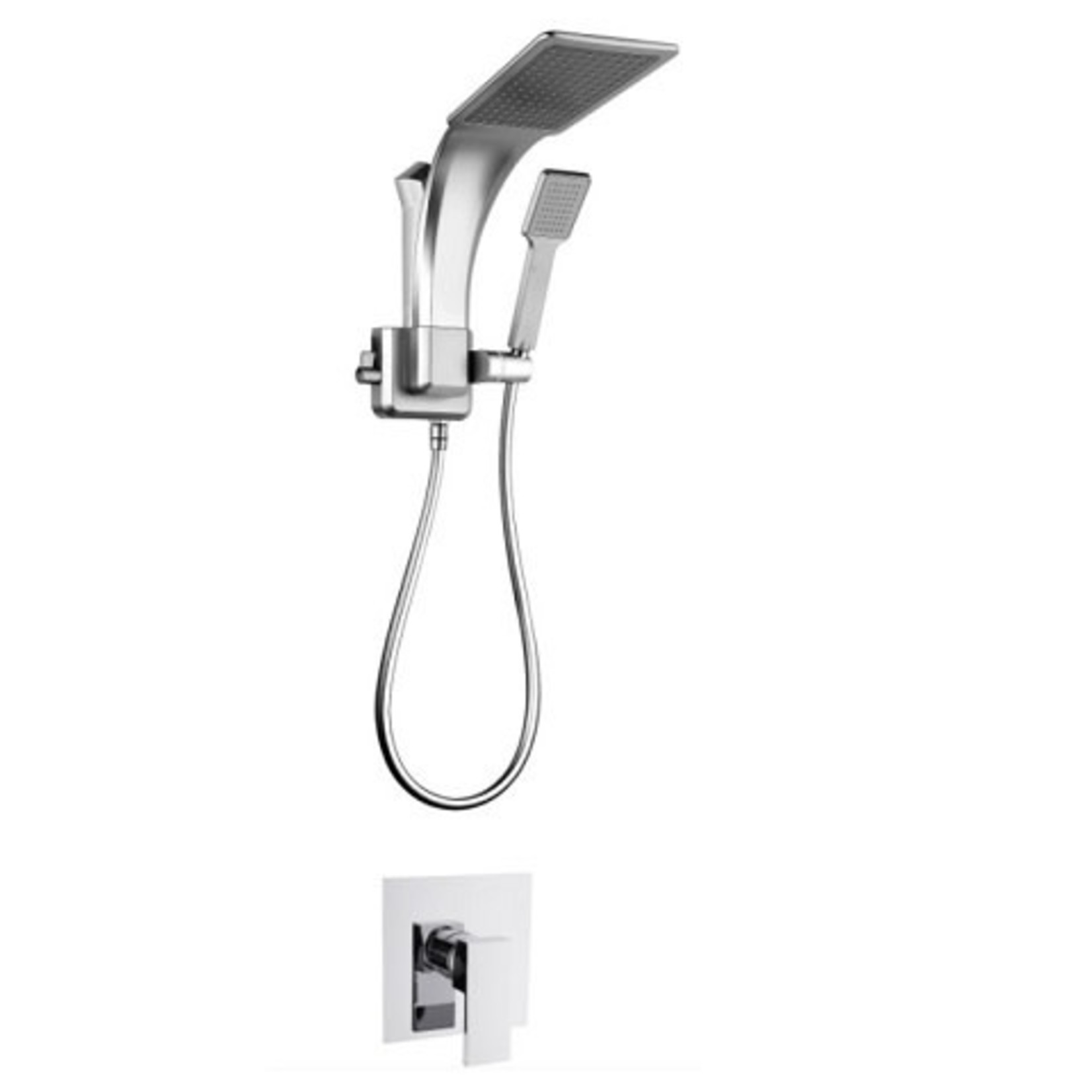 Chrome Pasgo 3-Piece Shower Set 19939