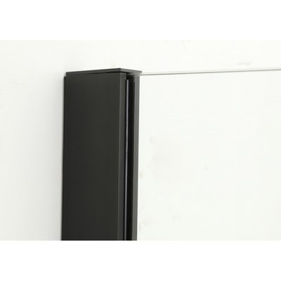 36 '' Matte Black Italian style glass shower