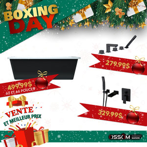 Boxing Day Bain autoportant 60'' 67''