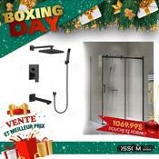 Boxing Day duo douche 36x48 noir et robinet de douche