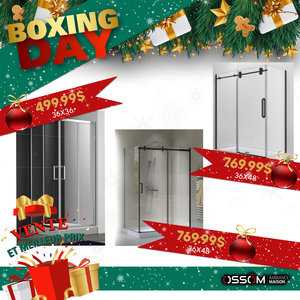 Boxing Day Douche 36x48  inclus base drain central