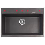 Granite sink MB102GR NAUTIKA 31x31x9