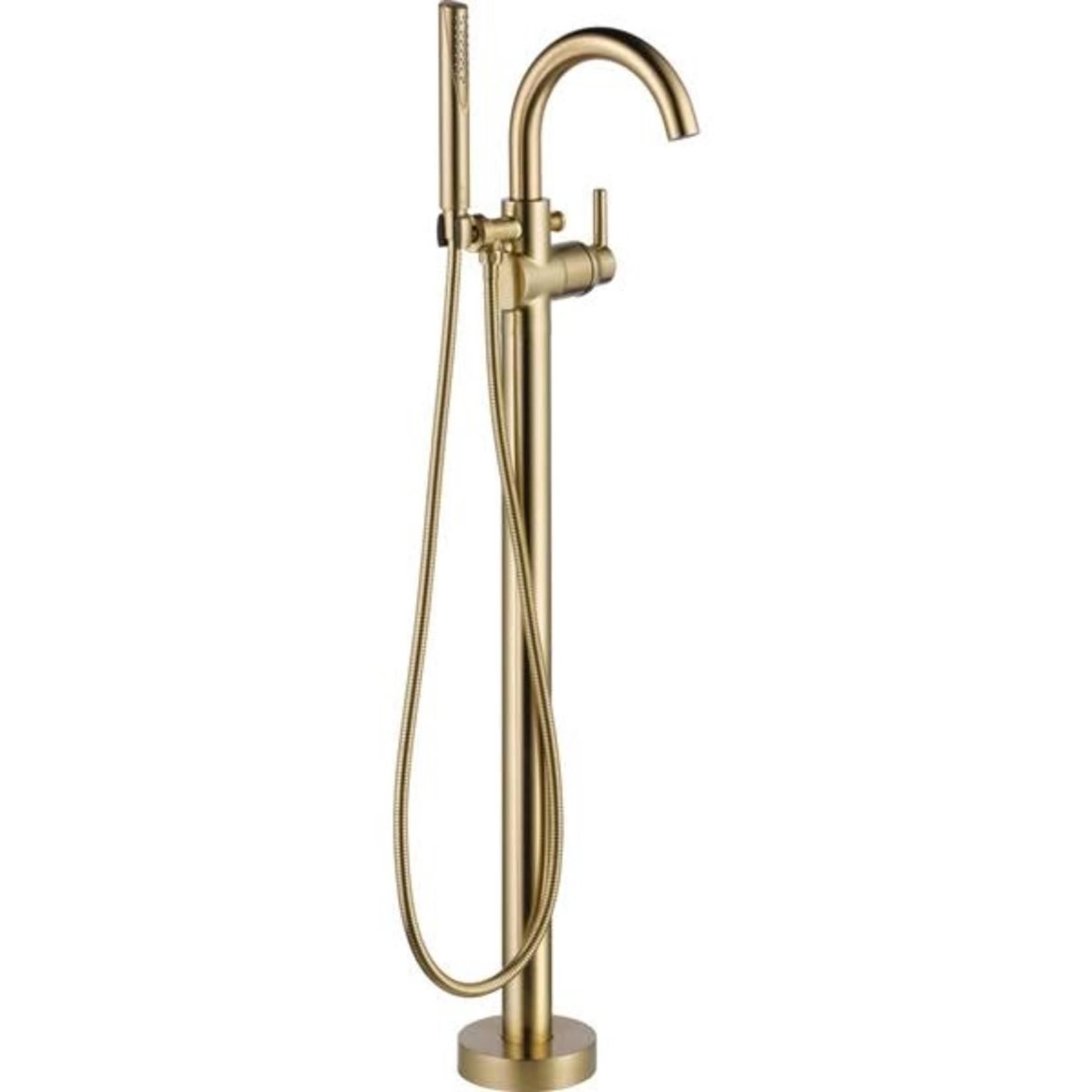 Brushed gold pedestal bathtub faucet Elyn collection NRD-S128-044