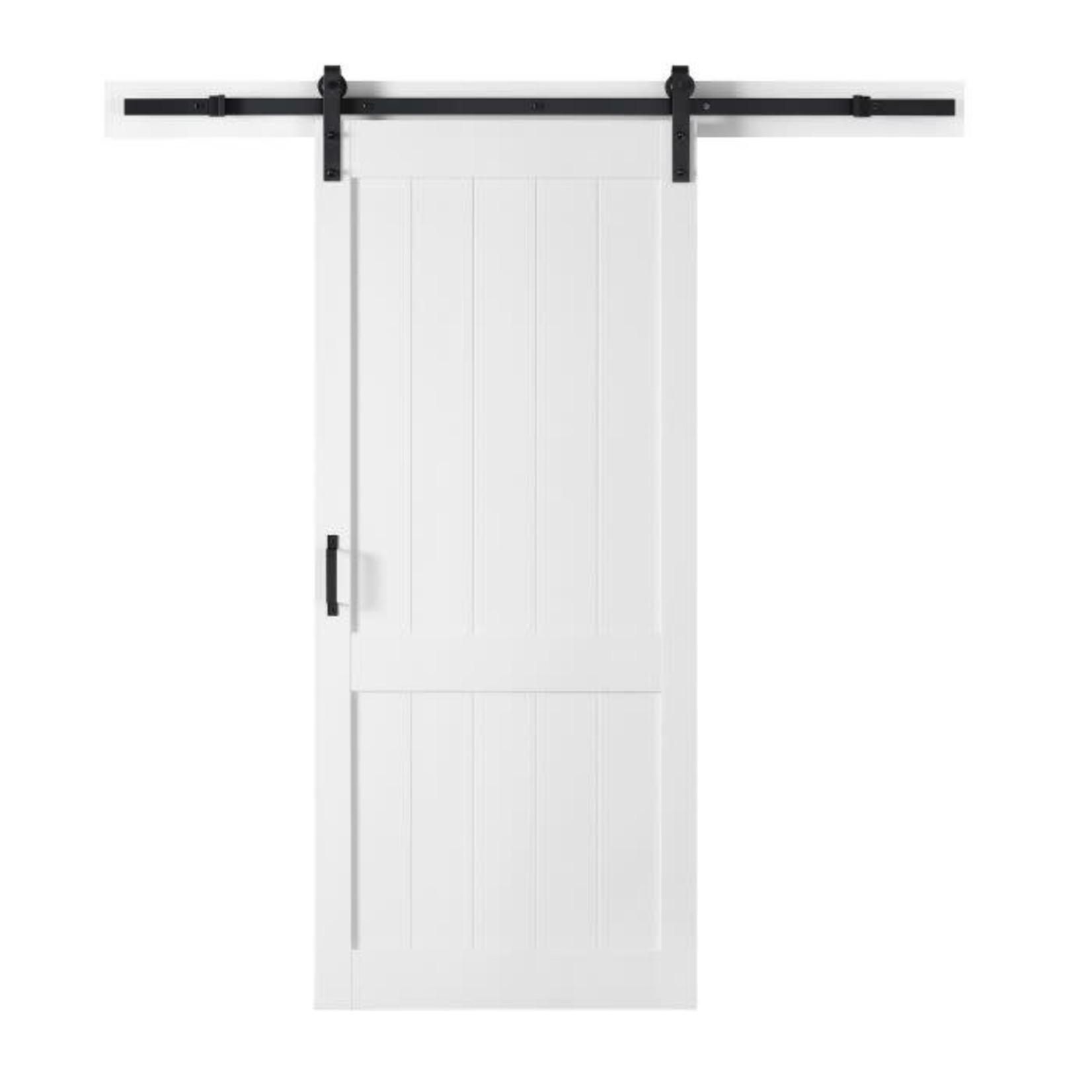 Porte de grange Ove Homestead 104JS 36x84 Textured White