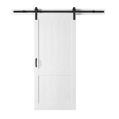 Ove  Barn Door Ove Homestead 104JS 36x84 Textured White