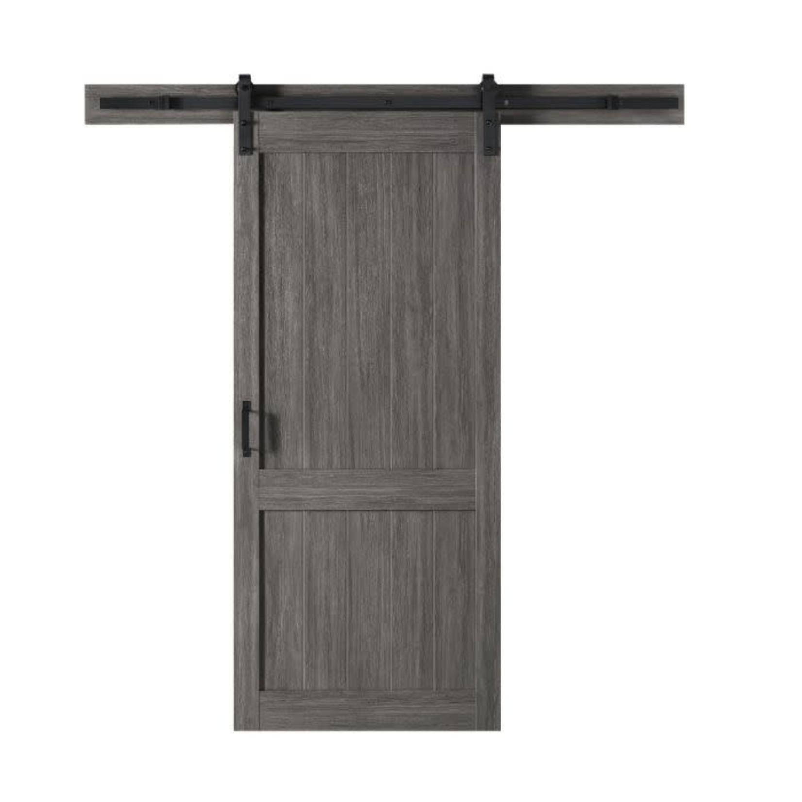 Porte de grange Ove Homestead 106JS 36x84 Carbon Grey