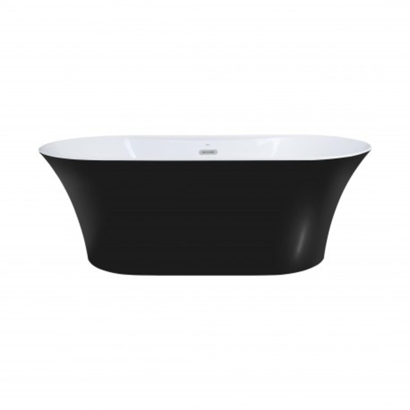 "Osiris black freestanding bathtub 67 """