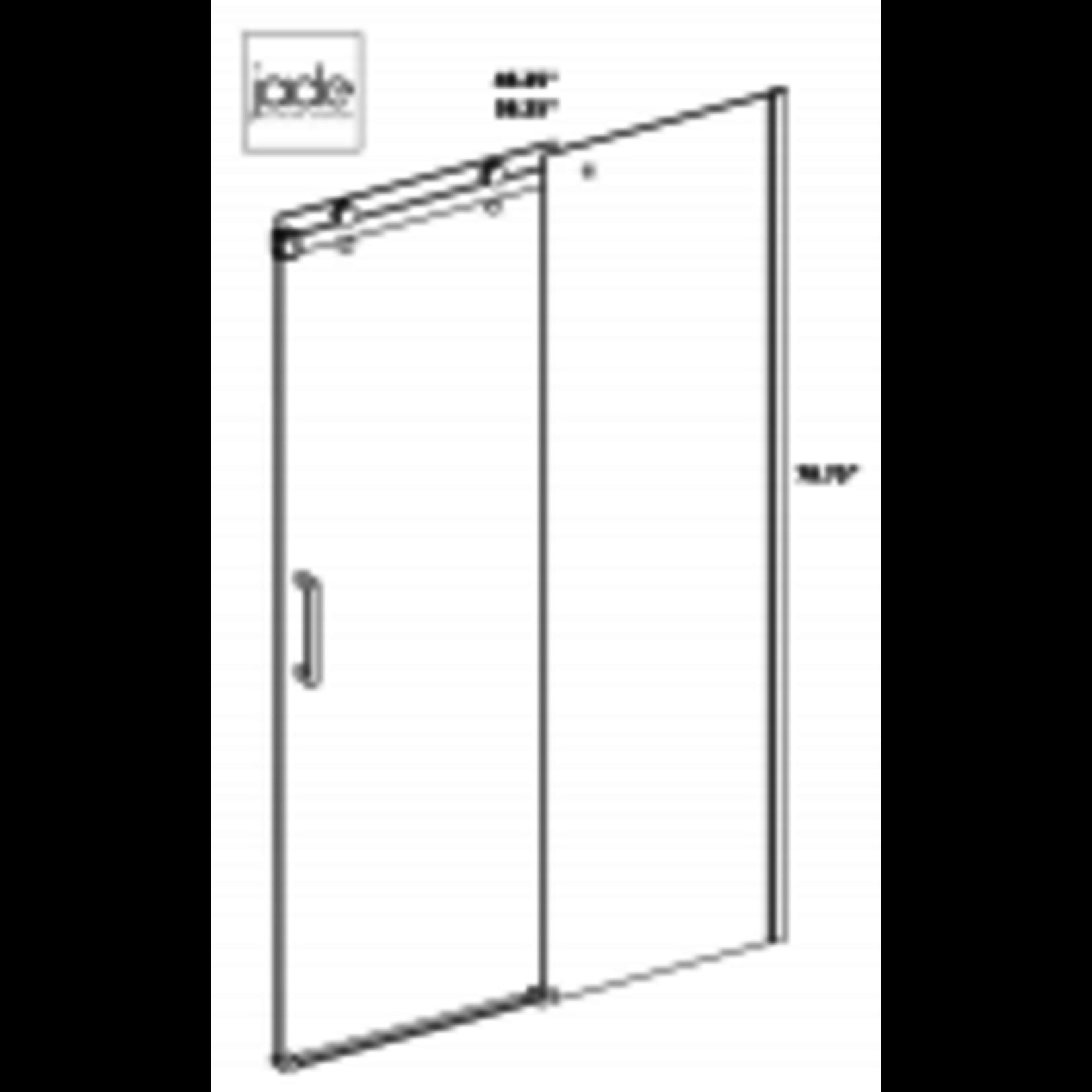 Reversible shower set 32x60 chrome Quartz Jade series