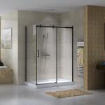 Reversible shower set 32x60 black Quartz Jade series