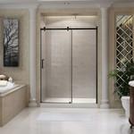 Porte de douche réversible 60'' noir mat série Quartz Jade 6440-60-11