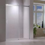 60 '' chrome reversible shower door Quartz Jade series