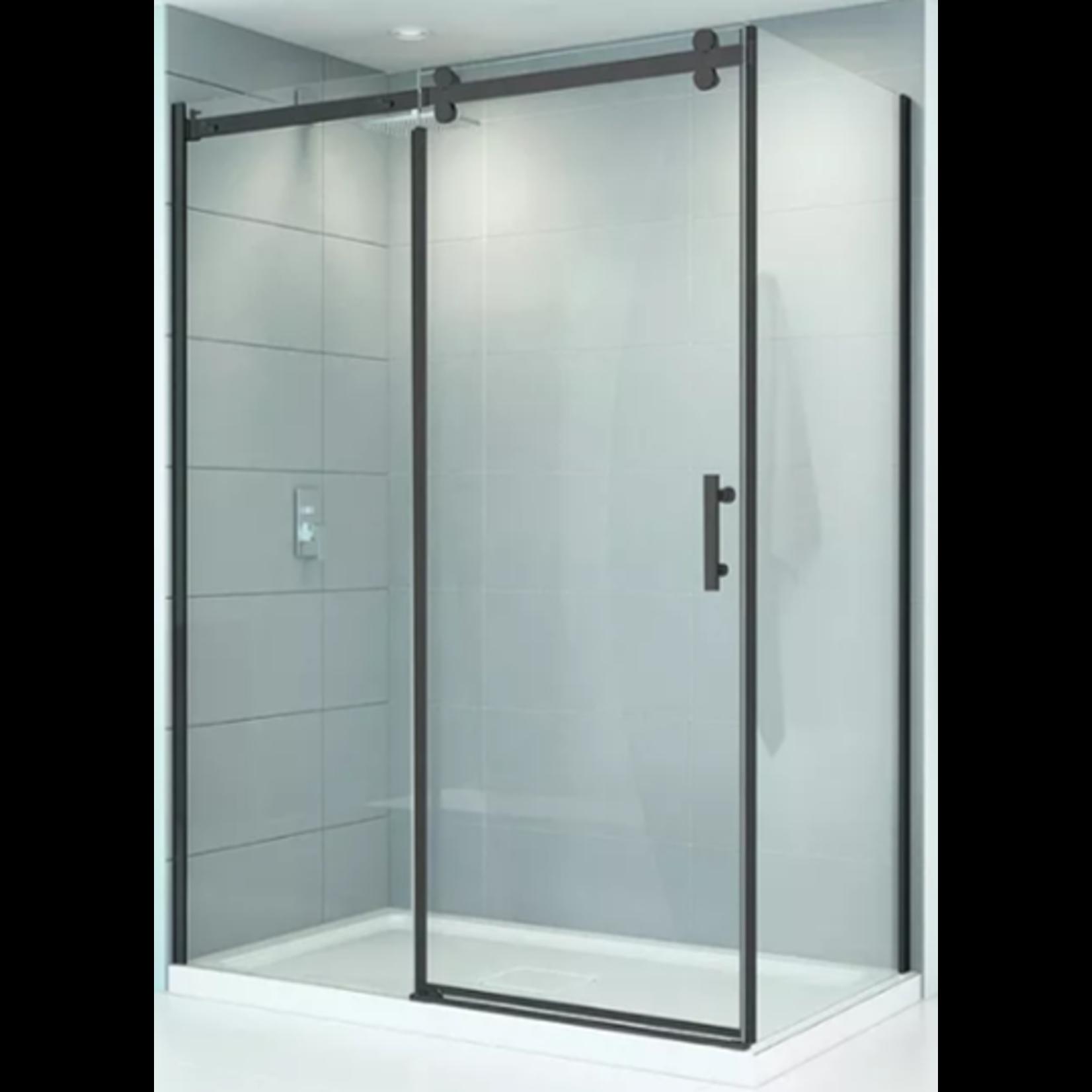 Reversible shower set 32x60 black Quartz series CDC