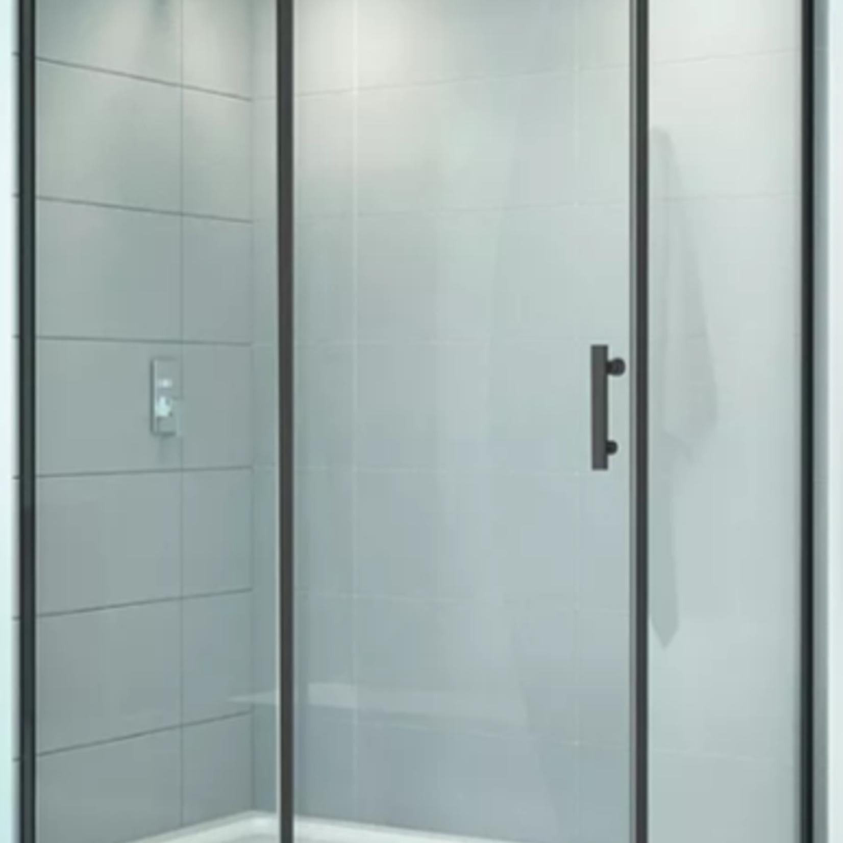 Reversible shower set 36x60 black Quartz series CDC