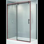 48 '' Matte black reversible shower door Quartz series CDC